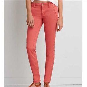 Coral America Eagle Stretch Skinny Jeans